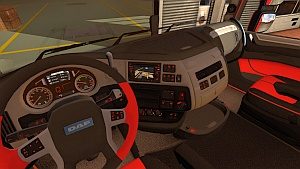 DAF Euro 6 Red interior mod by NFCristian