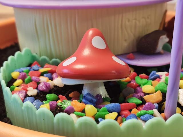 Der Pilz im Feen Licht Garten