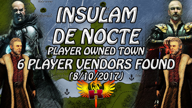 Insulam de Nocte, POT, 6 Player Vendors Found (8/10/2017)