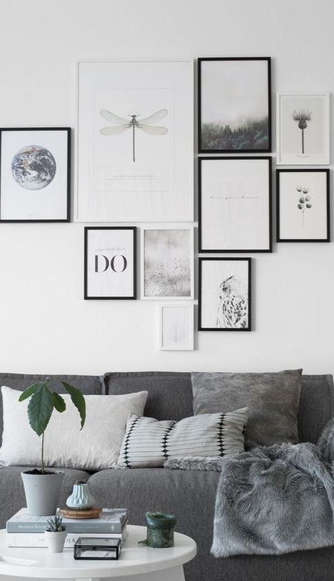 grey living room decoration