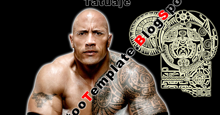 The Rock Tattoo Dwayne Johnson Maori Template Template Plantilla