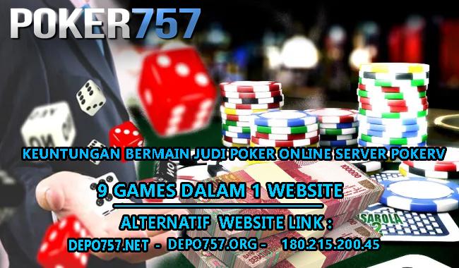 Keuntungan Bermain Judi Poker Online Server Pokerv Situs Judi Online