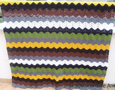 El costurero de Ani: Manta zig-zag ganchillo muy fácil (Enlace a patrón)