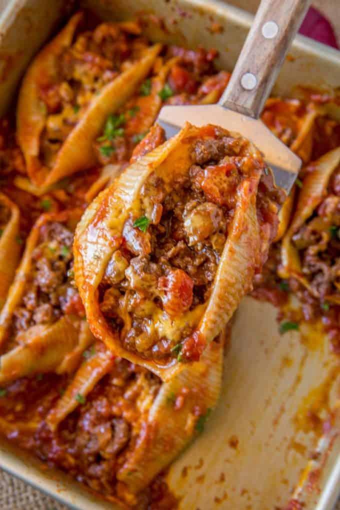 The Most Amazing Taco Stuffed Shells
