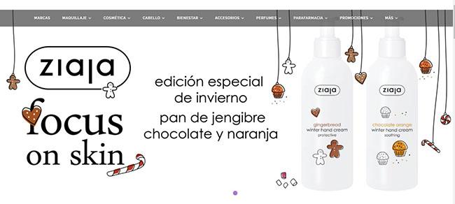 Novedades de Navidad de ZIAJA en onlinecosmeticos.es