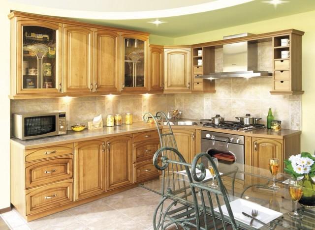 Кухни из дерева в современном стиле