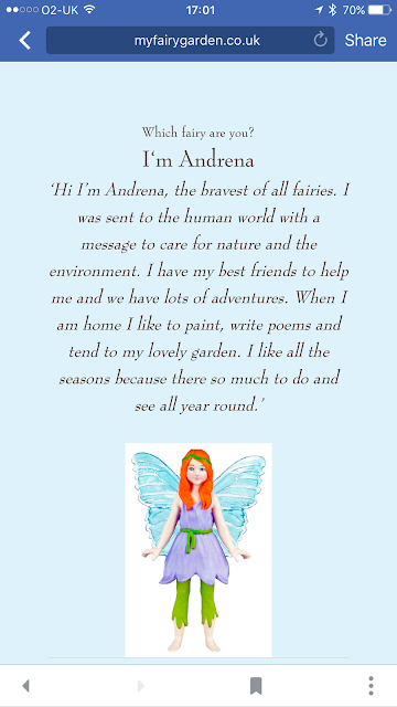screenshot from My Fairy Garden website from Interplay