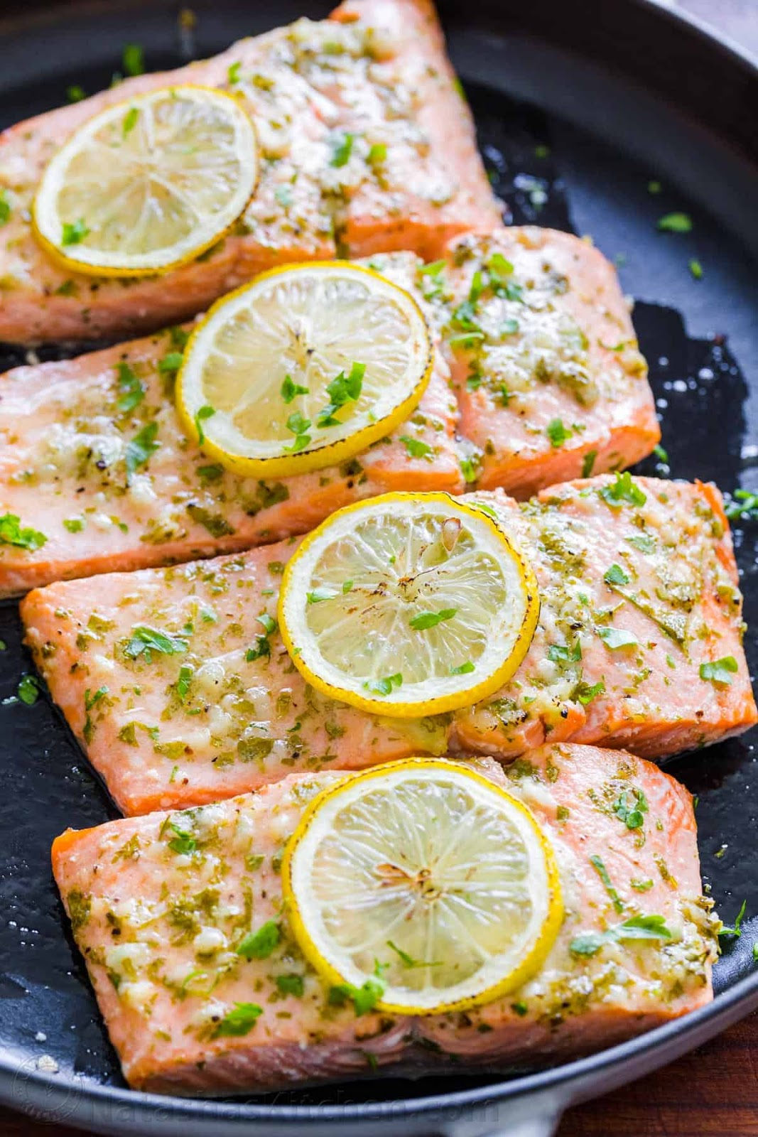 Baked Salmon with Garlic and Dijon #salmon #baked #breakfast #dinner #recipes