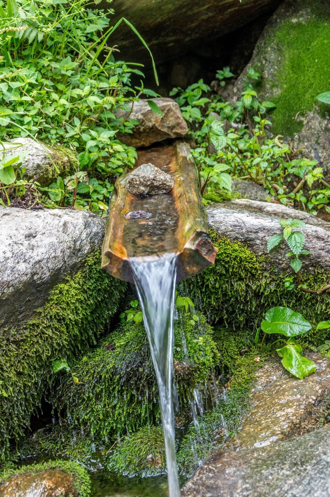spring water channelised in a very innovative way near Singhaad village en route Srikhand Mahadev Yatra