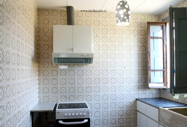 Crea decora recicla by all washi tape autentico chalk - Pintar azulejos de cocina ...