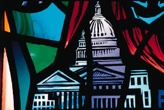 Washington DC artwork stained glass effect capitol dome