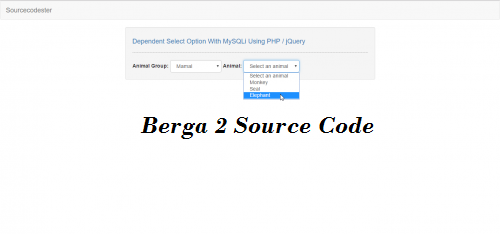 Soure CODE BErga News : Dependent Select Option With MySQLi Using Script jQuery/PHP Download