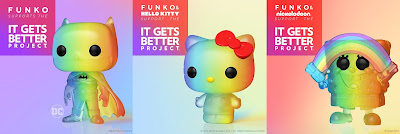 Batman, Hello Kitty & SpongeBob Square Pants Rainbow Edition Pop! Pride Vinyl Figures by Funko x It Gets Better