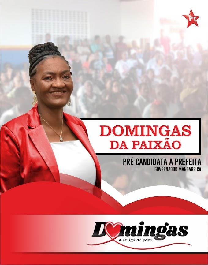 PT de Governador Mangabeira, lança o nome de Domingas da Paixão como pré-candidata a Prefeita