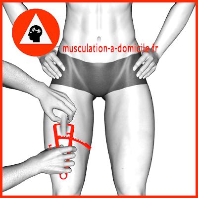 mesure cuisse femme pince à plis cutanés adipomètre musculation fitness
