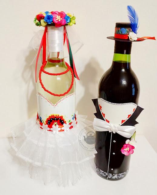 Butelki ślubne