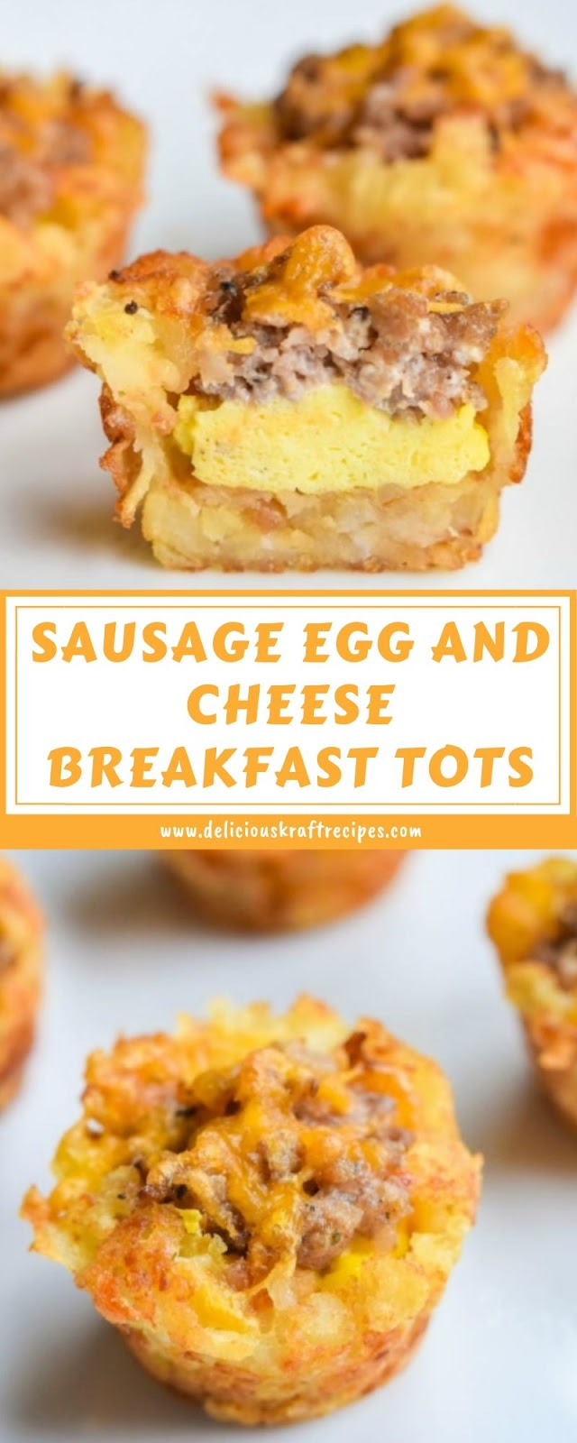 SAUSAGE EGG AND CHEESE BREAKFAST TOTS