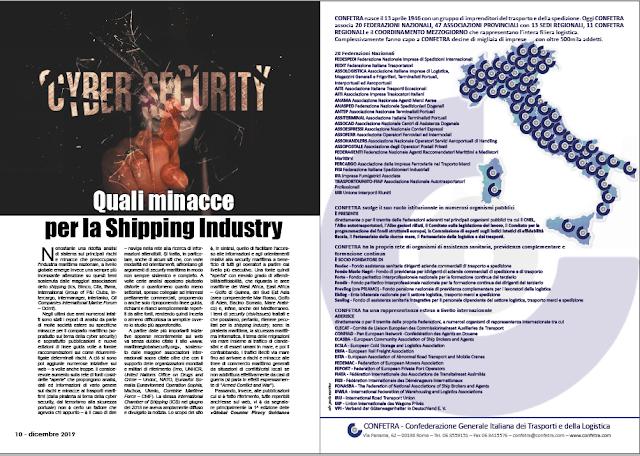 DICEMBRE 2019 PAG. 10 - Quali minacce per la Shipping Industry