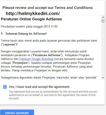 mendaftarkan blog kegoogle adsense lengkap