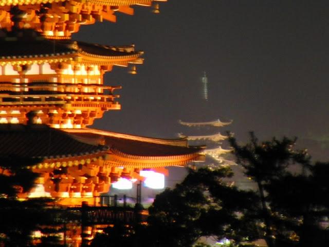Light-up Promenade in ancient city of Nara