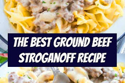 The Best Ground Beef Stroganoff Recipe #groundbeef #dinner