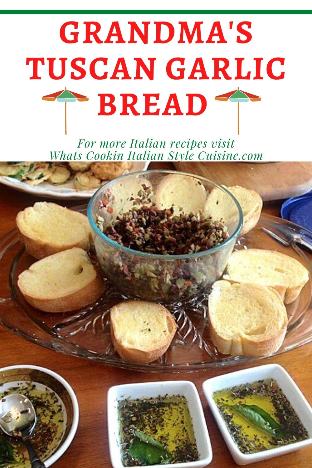 this is a pin for homemade garlic bread recipes