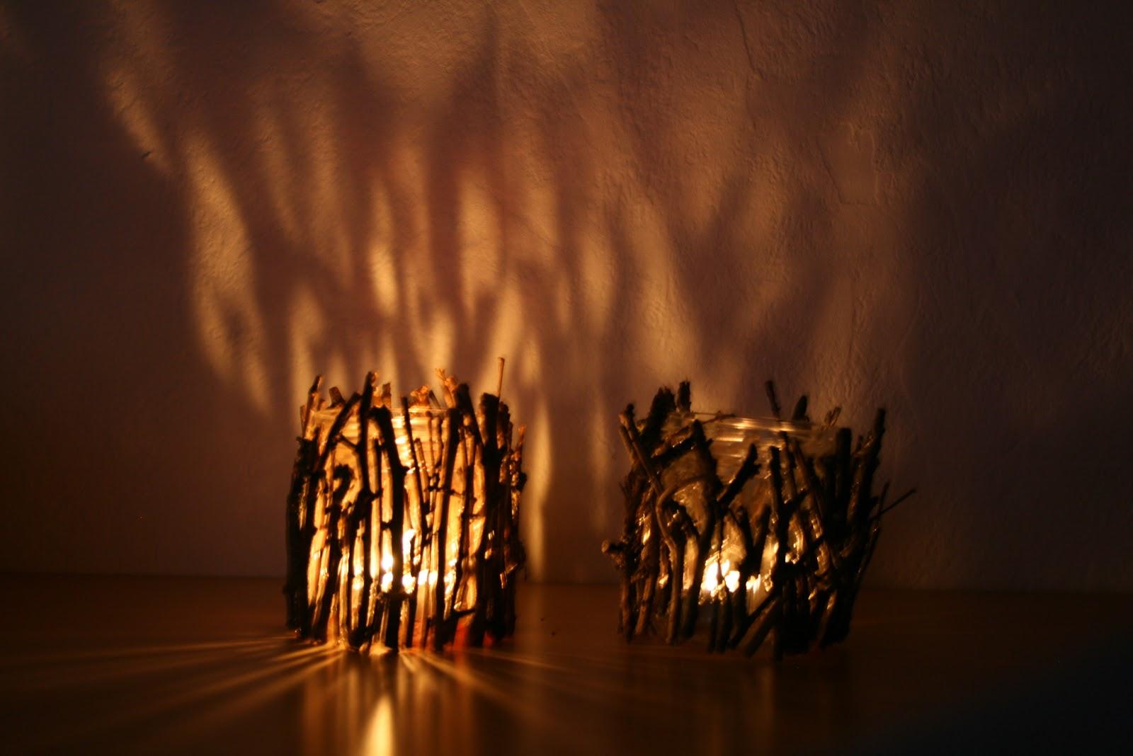 glossyfee diy rustikaler teelichthalter. Black Bedroom Furniture Sets. Home Design Ideas