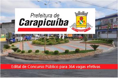 Edital Concurso Carapicuíba SP 2016.