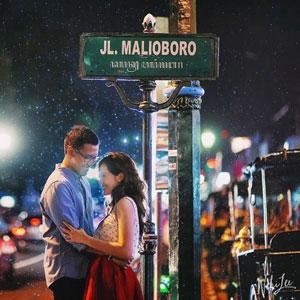 Suasana romantis di Jalan Malioboro Jogyakarta