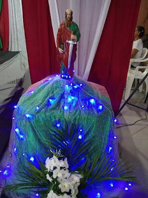 Foto da imagem de São Paulo Apóstolo.durante Festejos Paulinos no Canindezinho.