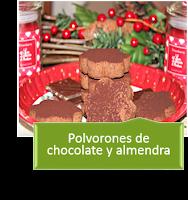 POLVORONES DE CHOCOLATE Y ALMENDRA