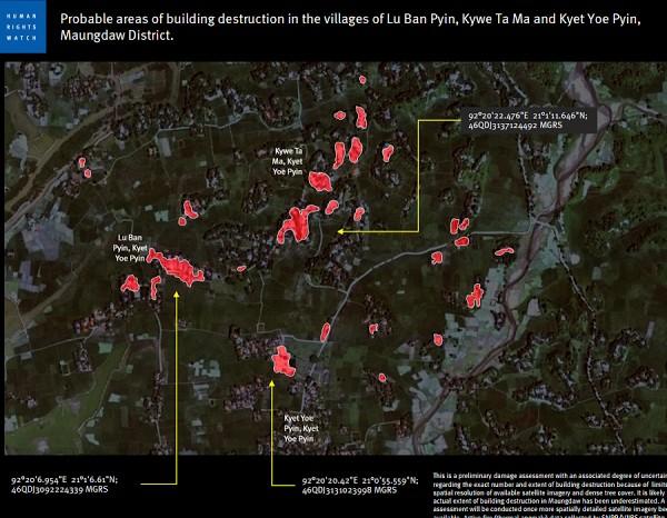 Foto Satelit Terbaru tunjukkan Kehancuran Desa Rohingya