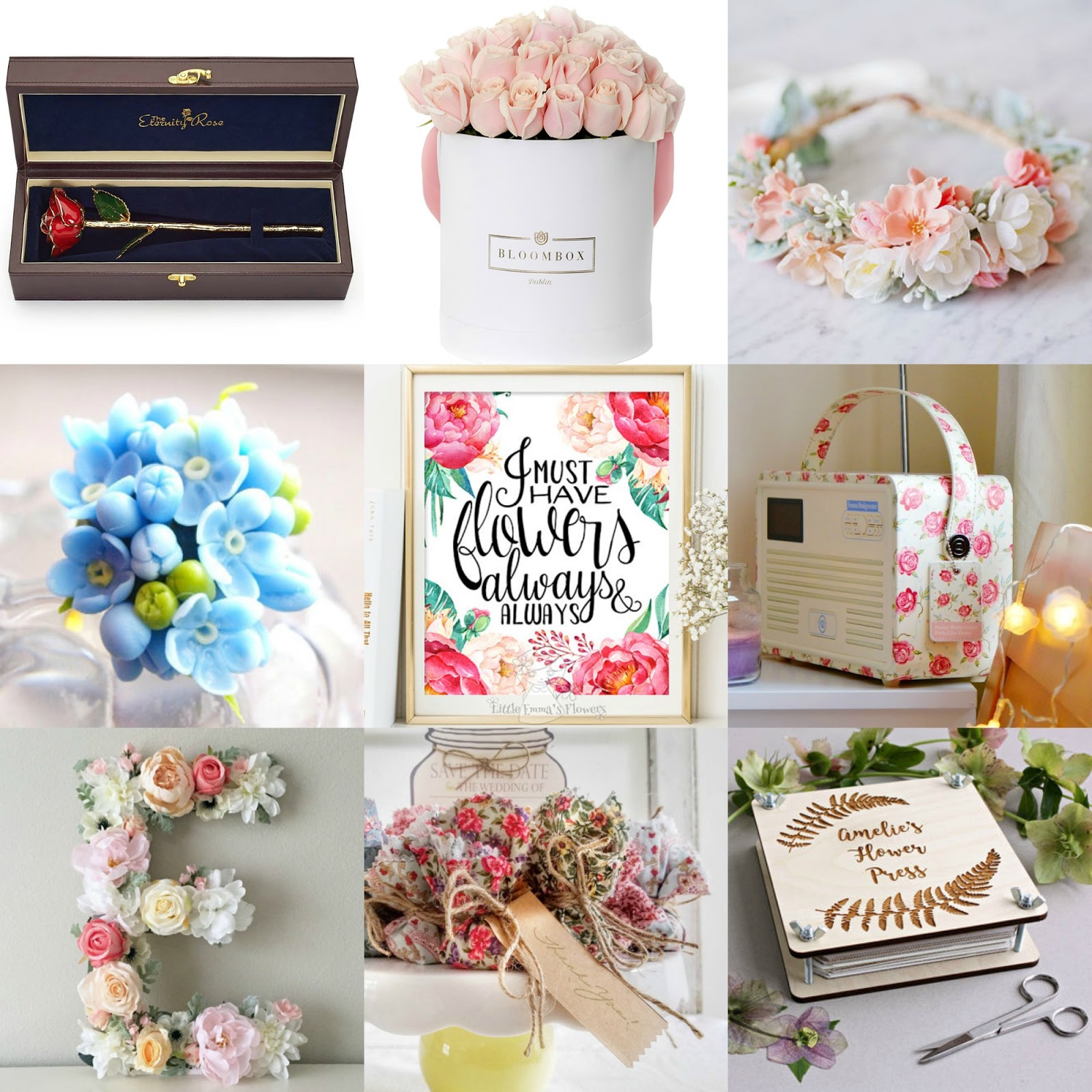 Beautiful Flower Themed Gifts For Any Occasion ♥