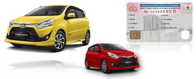 Daftar Pajak Lengkap Toyota Agya Semua Tipe dan Terbaru 2020