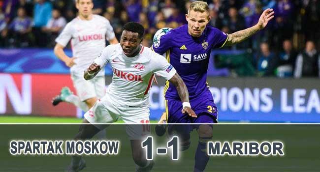 cuplikan gol spartak moskow vs maribor 1-1