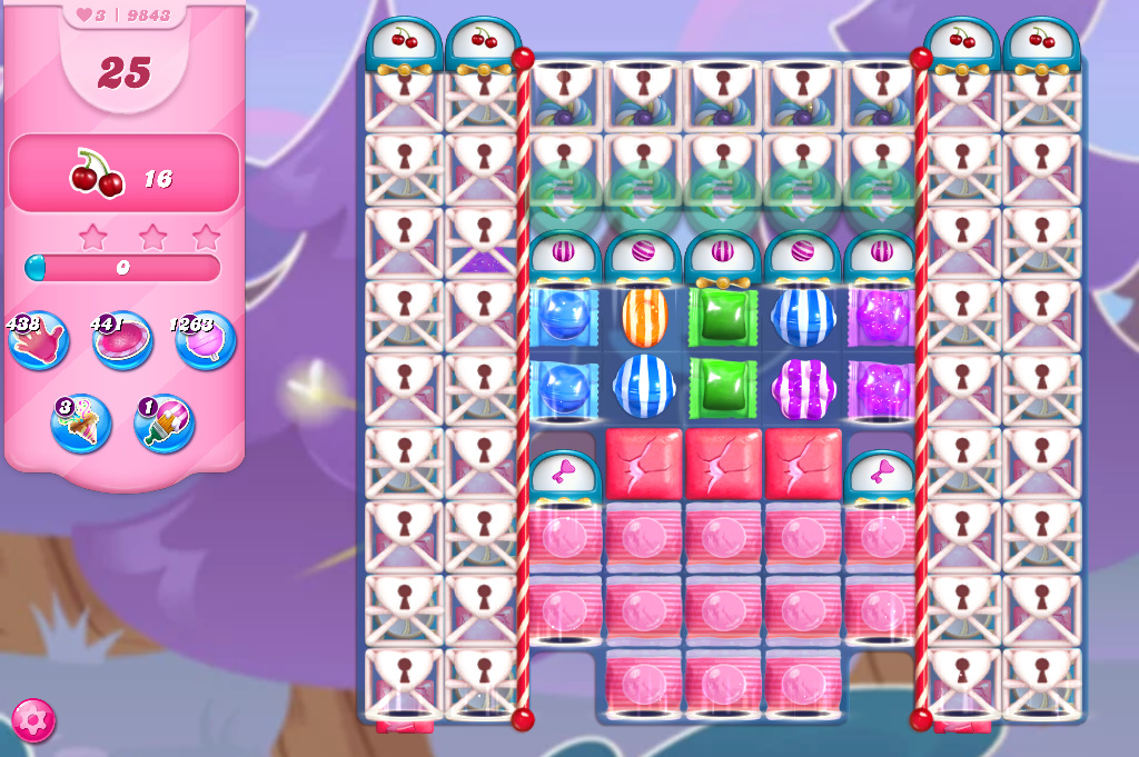 Candy Crush Saga level 9843