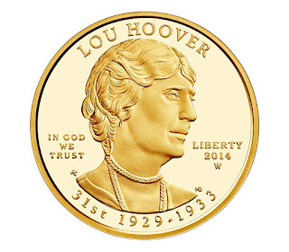 US Gold Coins Lou Hoover 10 Dollars First Spouse Gold Coin
