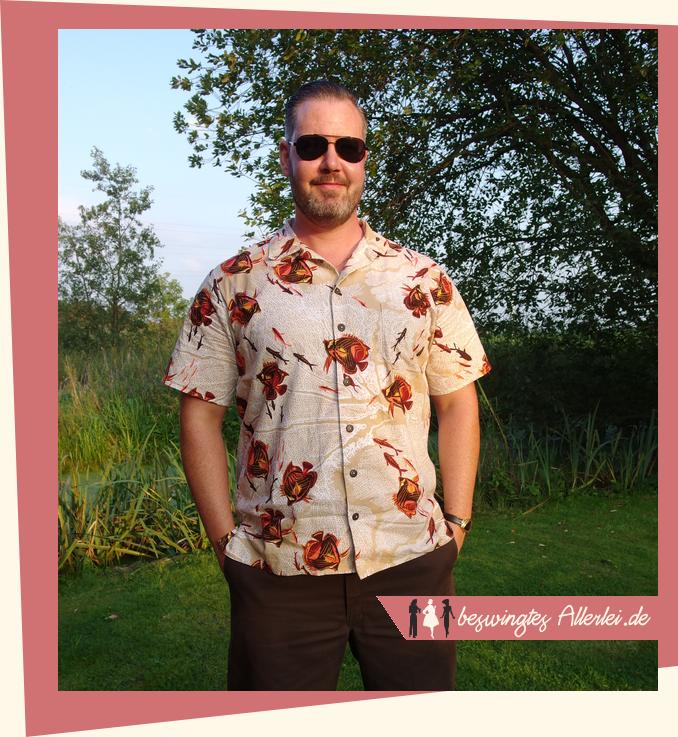 Beswingtes Allerlei: Fertig: Ein Hawaiihemd wie von Alfred Shaheen!