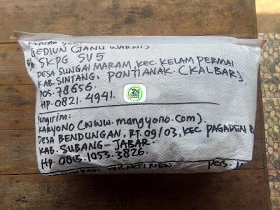 Benih padi yang dibeli   GEDIUN Sintang, Kalbar.  (Setelah packing karung).