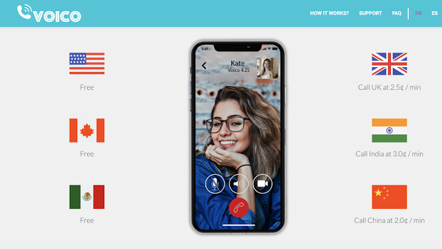 A new app for free video calls in the Emirates under the name of Voico UAE