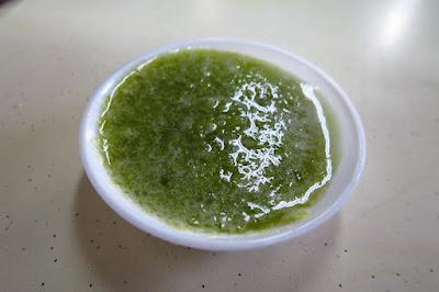 Old Village, green chilli sauce