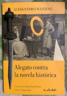 Portada del libro Alegato contra la novela histórica, de Alessandro Manzoni