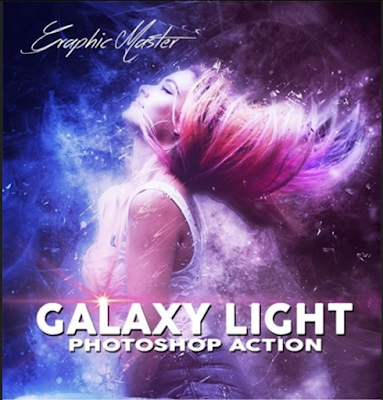 efek galaxy pada poster gambar dengan photoshop