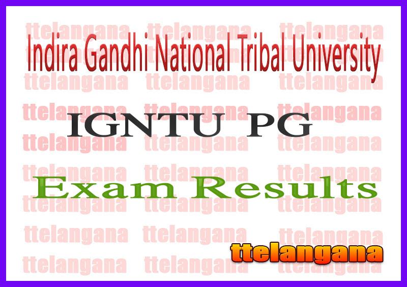 Indira Gandhi National Tribal University MA M.Sc MSW MBA 2nd 4th Semester Exam Result