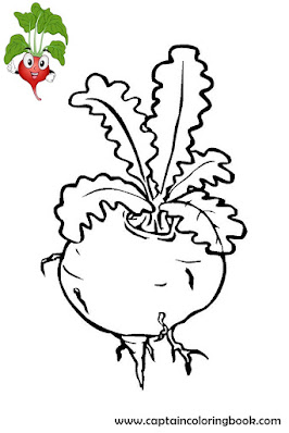 Vegetable coloring pages-4