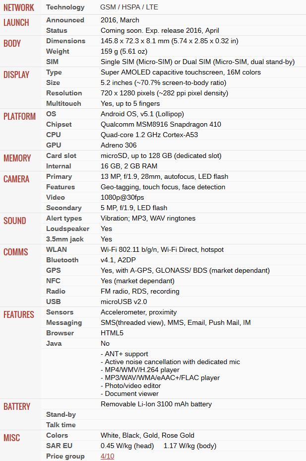 spesifikasi ponsel Samsung J5 2016 terbaru