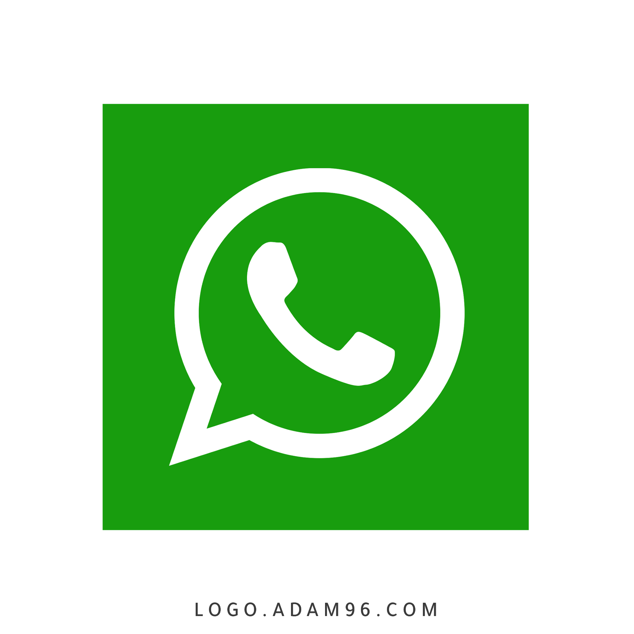 تحميل شعار واتساب مربع لوجو رسمي بدقة عالية Logo WhatsApp PNG