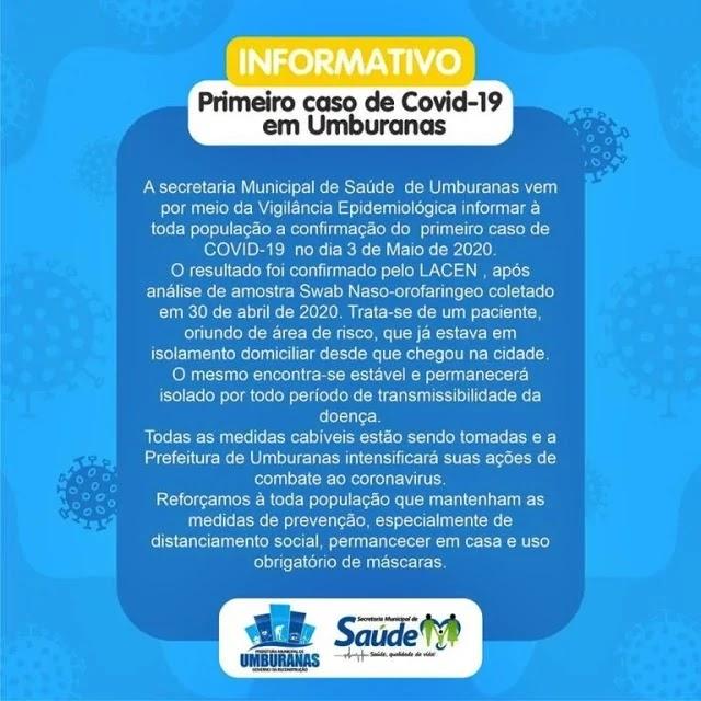 UMBURANAS 19 CONFIRMADO