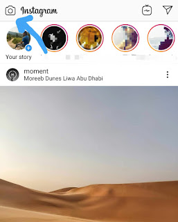 Open Instagram camera