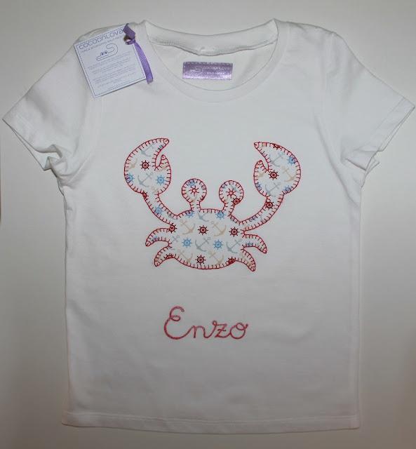 camiseta bebe cangrejo